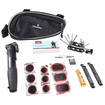 AGPtek - Portable Bike Tyre Repair Multifunctional Tool Set Pump Kit - Black - Black