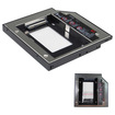 "Image - 2.5"" 12.7mm Universal SATA TO SATA 2ND Hard Drive Module Caddy UltraBay For Lenovo SL300 SL400 SL500 - Black"