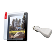 eForCity - USB Car Charger Adapter and Anti-Glare Screen Protector Bundle for iPad