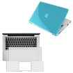 eForCity - Hard Plastic Case and Keyboard Skin Shield for MacBook® Pro 13-inch - Clear Light Blue - Clear Light Blue