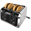 Black & Decker - TR1400SB 4-Slice Toaster - Black, Brushed Stainless Steel