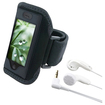 eForCity - Sport Armband Sportband Case Bundle For iPhone® 3GS + Headphone
