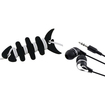 eForCity - Headset and Ear Buds and Fishbone Wrap Bundle For Samsung Galaxy N7100 S4 i9500 - Black