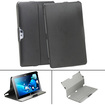GreatShield - VANTAGE Series Slim-Fit Leather Folio Case Cover for Samsung ATIV Smart PC 500T - Black