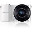 Samsung - 20.3 Megapixel Mirrorless Camera (Body with Lens Kit) - 20 mm-50 mm Lens - White