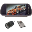 """Performance Teknique - 7"""" TFT Monitor, Clip-on Mirror with Waterproof Rear View Night Vision Camera"""