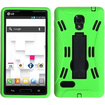 BasAcc - Symbiosis Stand Protector Case Cover for LG P769 Optimus L9 - Black/Green Symbiosis - Black/Green Symbiosis