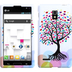 BasAcc - Hard Rubberized Love Tree Case Cover for LG P769 (Optimus L9)