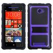 Insten - Gummy Armor Stand for HTC Windows Phone 8X - Purple Gummy Armor