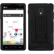 BasAcc - Car Armor Stand Case Cover Rubberized for LG P769 Optimus L9 - Black Car Armor - Black Car Armor