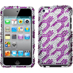 Insten - Rocket Diamond Case Cover for iPod Touch 4th generation - Purple/White Rocket Diamond