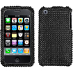 Insten - Diamante Case Cover for iPhone 3GS/3G - Black Diamante