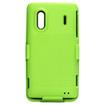 Insten - Rubber Hybrid Holster for HTC EVO Design 4G - Apple Green