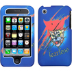 Insten - Lizzo Bobcat Phone Case Cover for iPhone 3GS/3G - Lizzo Bobcat Blue