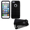 Insten - Microphone Fusion Case Cover For iPhone 5 / 5S - Black Microphone