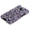 Insten - Stardust Diamond Bling Case for Samsung Galaxy S 2 Attain i777 - Purple/Silver Stardust Elite Diamante
