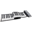 AGPtek - MIDI Flexible Foldable Washable Rolling Electronic Piano Keyboard 61 Key Portable - Black - Black