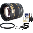Rokinon - 85mm f/1.4 Manual Focus Aspherical Lens (for Canon EOS Cameras) with UV Filter + Cleaning Kit