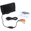 Agptek - 4.3 Inch LCD TFT Monitor Screen with Baffle for Car Rear View Camera 2 Video Input - Black