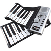 Image - 61 Keys Flexible Foldable Soft Portable Electric Keyboard Digital Roll up Piano w/ MIDI - Black - Black