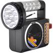 QFX - Portable FM Radio with USB/SD and Flashlight - Gray - Gray