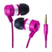 GOgroove - Earbuds / In-Ear Headphones w/ Interchangeable Noise Isolating Silicone Ear Gels (4 sizes) - Pink - Pink
