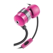 GOgroove - AudiOHM HF Earphones Headphones w/ Hands-Free Microphone for MP3 Players - Pink - Pink
