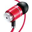 GOgroove - audiOHM HF Ergonomic Earphones Headphones w/ Hands-Free Microphone & Deep Bass f/Samsung Galaxy S4 - Royal Red - Royal Red
