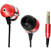 GOgroove - audiOHM HF Ergonomic Earphone/ Earbud Headphones with Hands-Free Microphone - Royal Red