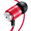 GOgroove - audiOHM HF Ergonomic Earphones Headphones w/ Hands-Free Microphone & Deep Bass - Royal Red - Royal Red