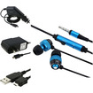 eForCity - Headset and Car/Travel Charger and USB Cable Bundle for Samsung Epic 4G/Galaxy® S