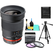 Rokinon - Bundle 35mm f/1.4 Aspherical Automatic Wide Angle Manual Focus Lens (for Nikon Cameras)