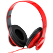 DrHotDeal - Adjustable Circumaural Over-Ear Earphone Stereo Headphone 3.5mm for iPod MP3 MP4 PC - Red