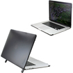 DrHotDeal - Hard PC Case Cover for MacBook Pro 15 with Retina Display 15.4 Inches A1398 - Transparent Black - Transparent Black