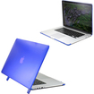 DrHotDeal - Hard PC Case Cover for MacBook Pro 15 with Retina Display 15.4 Inches A1398 - Transparent Dark Blue - Transparent Dark Blue