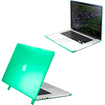 DrHotDeal - Hard PC Case Cover for MacBook Pro 15 with Retina Display 15.4 Inches A1398 - Transparent Green - Transparent Green