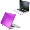 DrHotDeal - Hard PC Case Cover for MacBook Pro 15 with Retina Display 15.4 Inches A1398 - Transparent Purple - Transparent Purple