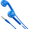 DrHotDeal - Earphone Earbud w/ Mic Volume Remote for iPhone 5 4S iPad iPod Touch Nano - Blue - Blue