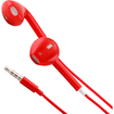 DrHotDeal - Earphone Earbud w/ Mic Volume Remote for iPhone 5 4S iPad iPod Touch Nano - Red - Red