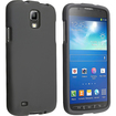 eForCity - Snap on Rubber Coated Case for Samsung Galaxy S4 Active i9295 - Black
