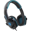 SADES - Stereo Hidden Microphone Headset Headphone for Gaming PC Laptop - Black, Blue