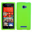 Insten - Solid Skin Cover For HTC Windows Phone 8X - Electric Green