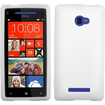 Insten - Solid Skin Cover For HTC Windows Phone 8X - White