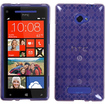 Insten - Argyle Candy Skin Cover For HTC Windows Phone 8X - Purple