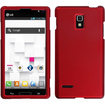 BasAcc - Titanium Solid Phone Protector Cover For LG P769 (Optimus L9) - Red - Red