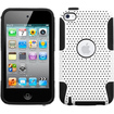 Insten - Astronoot Mesh Dual Layer Hybrid Case Cover For Apple iPod Touch 4th Generation - Black, White
