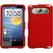 Insten - Solid Flaming Phone Case Cover For HTC HD7 HD7S - Solid Flaming Red