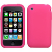 Insten - Silicone Skin Soft Gel Case For iPhoneˊ 3GS/3G - Hot Pink