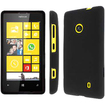 Accessory Export - Collection Full Coverage Hard Rubberized Case for Nokia Lumia 520 / 521 - Black - Black