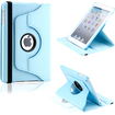 DrHotDeal - 360 Degree Rotating PU Leather Case Smart Cover Swivel Stand for iPad Mini - Light Blue